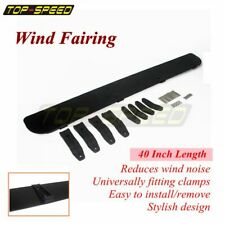 Low-Profile Rack Aerodynamic Roof Wind Fairing Air Deflector Kit 40 inches Black