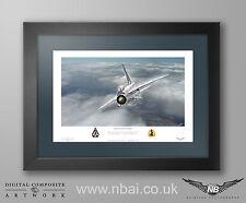 Framed English Electric F.2A Lightning, 19 Sqn RAF Gutersloh Print