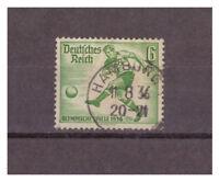 Deutsches Reich, MiNr. 611 Vollstempel Hamburg 11.08.1936