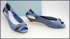 Denim Open Toe Medium (B, M) Width Shoes for Women