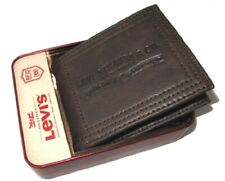 New Mens Levis Wallet 31LP220028 Brown RFID Theft Protection Billfold