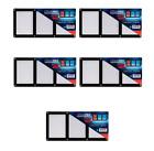 (5-Pack) Ultra PRO Triple Karte Screwdown Kartenfach Schwarz Rahmen Für 3 KartenToploader-Hüllen & Kartenhalter - 183438