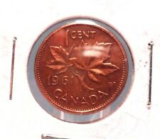 CIRCULATED 1961 1 CENT CANADIAN COIN!