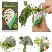 9 Holes Herb Stripper 2in1 Stainless Steel Vegetable Leaf Remover