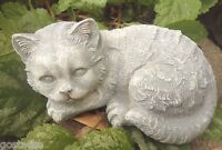 Latex cat mold with plastic backup plaster concrete mold casting garden mould