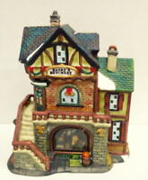 Grandeur Noel Victorian Village Harry's Butchery Shop Christmas Butcher 2000