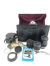Vintage Minolta Rokkor Lens Kit And Case (no Camera)