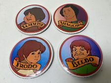 Button Set Lord of the Rings '78 animated movie Frodo, Samwise, Aragorn, Bilbo