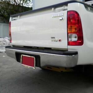 US Stock fit Toyota Hilux SR Rear Bumper Tail Back Chrome Steel Vigo Kun Tgn