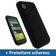 Nero Custodia TPU Gel per Samsung i9000 Galaxy S Case Cover Rigida Protezione
