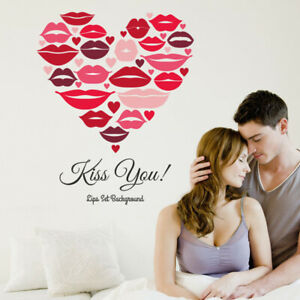Family Wall Sticker Removable PVC Love Kisses Girls Wall Decals Art Stickers
