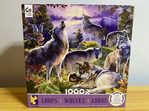 Ceaco 1000 Piece Wolves Puzzle With Puzzle Poster