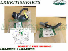 GENUINE LAND ROVER THERMOSTAT WATER OUTLET 5.0L V8 PETROL NEW LR049989 LR045238