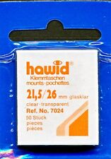 Hawid Stamp Mounts Size 22/26 (21.5) CLEAR Pack of 50