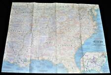 NATIONAL GEOGRAPHIC SOCIETY MAP BATTLEFIELDS OF THE AMERICAN CIVIL WAR 1961