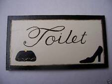 Toilet Vintage/Retro Decorative Indoor Signs/Plaques