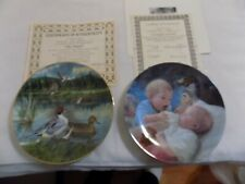 Bradford Exchange, Edwin Knowles, Collector Plate Lot of 2