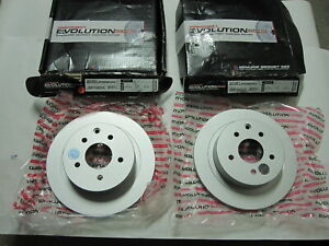 Pair of New Jbr1106evc Evolution Coated Rotors Rear Left & Right