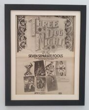 THREE DOG NIGHT*7 Separate Fools*1972*ORIGINAL*POSTER*AD*FRAMED*FAST WORLD SHIP