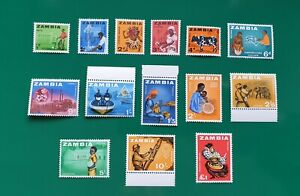ZAMBIA 1964 MNH COMPLETE SET OF 14 SG94-106 UNMOUNTED MINT
