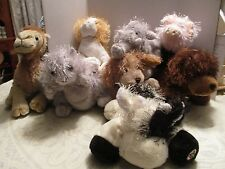 "Lot of 8 Ganz Webkinz 8"" Floppy Plush Animals"
