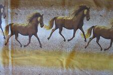 "144"" GALLOPING HORSES Scenic Print Material Fabric Sofa Cover  68"" X 144"""