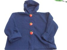 Girls 5 The Bailey Boys Navy Blue Apple Buttons Fleece Coat Jacket Boutique