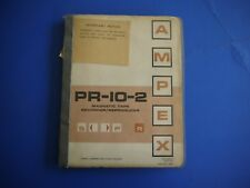 Ampex Corporation PR-10-2 MAGNETIC TAPE RECORDER/REPRODUCERS
