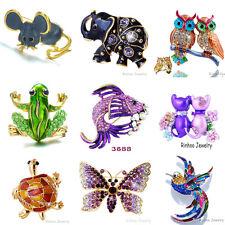 Fashion Jewelry Crystal Animal Gold Brooch Pins Rhinestone Party Women Gift New