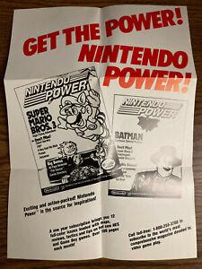 AUTHENTIC Nintendo Power PROMO POSTER See photos! Game Boy DMG-USA-3 RARE! '90s