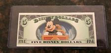 "2014 $5 Disney Dollar ""A"" Series - Thunder Mountain Railroad  NEW & UNCIRCULATED"