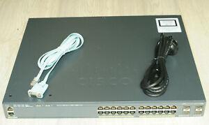 Cisco WS-C2960X-24PS-L Catalyst 2960X Switch 24 Ports GigE PoE 370W, 4 X 1G SFP