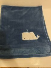 New listing Cloud Island Baby Blanket Blue Embroidered Whale Plush Fleece Lovey Target