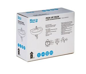 Roca Pick-Up Pack Laura Cloakroom Basin, Victoria Tap, Waste, Trap 323820001