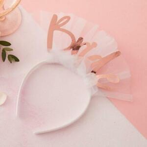Bride To Be Veil Headband - Rose Gold Tiara Crown - Hen Party Accessories