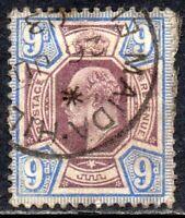 1902 Sg 250 M39/1 9d dull purple and ultramarine Maida Hill Single Circle Cancel