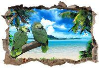Stickers 3D Trompe l'oeil Perroquets 23836 23836 Art déco Stickers