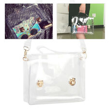 Fashion Women Clear PVC Bag Tote Shoulder Handbag Waterproof Crossbody Purse