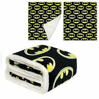DC Comics Licensed Batman Emblem Dark Knight Thick Micro Sherpa Throw Blanket