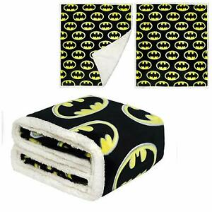 DC Comics Licensed Batman Emblem Dark Knight Thick Micro Sherpa Throw Blanket