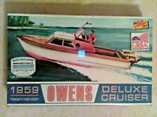 Lindberg Line  Owens Deluxe Cruiser  Boat  1:25 Scale Model  Factory Sealed