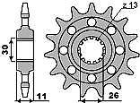 PBR Front Sprockets Yamaha YZF R1 98 - 20> 520 Chain mod