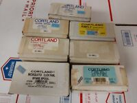 Lot of 7 new old stock vintage cortland fly FISHING reel spools