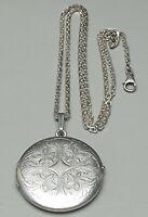 Kollmar & Jourdan großes 925 Silber Medaillon Fotomedaillon & mass. Kette /A823