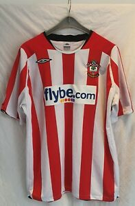 Southampton replica vintage football shirt Flybe Adult  XXL Used