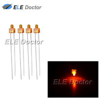 100pcs 2mm Diffused Orange-Orange Light DIP Round Top LED Diodes 8000Mcd