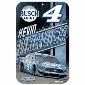Kevin Harvick 2021 Wincraft #4 Busch Light 11x17 Sign FREE SHIP!