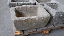 Alter Trog aus Granit 40 cm lang  Steintrog Granittrog G1201 Brunnen Waschbecken