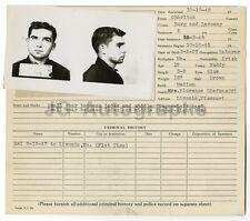 Police Booking Sheet - Burglary and Larceny - Jefferson City, Missouri, 1947
