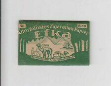 Zigaretten-Papier EFKA grün flach ungummiert Cigaretten Papier Tabak